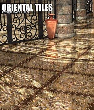 Poser - Oriental Floors 2D Graphics Merchant Resources Atenais