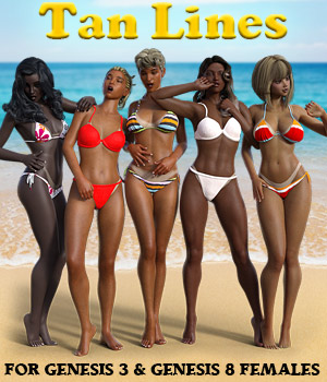 TanLines for G3F & G8F 3D Figure Assets powerage