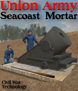 Union Army Seacoast Mortar 3D Models Michael_C