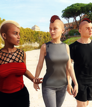 Mohawk for Genesis 8 Male and Female 3D Figure Assets Kungh