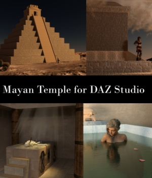 Mayan Temple for DAZ Studio 3D Models EmotionalOutlet3D