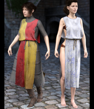 SY Rag Tunic dForce Iray Texture Add-On 3D Figure Assets SickleYield