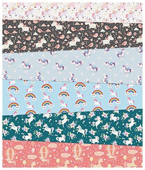Unicorn Fabric Prints 2D Graphics Merchant Resources Medeina