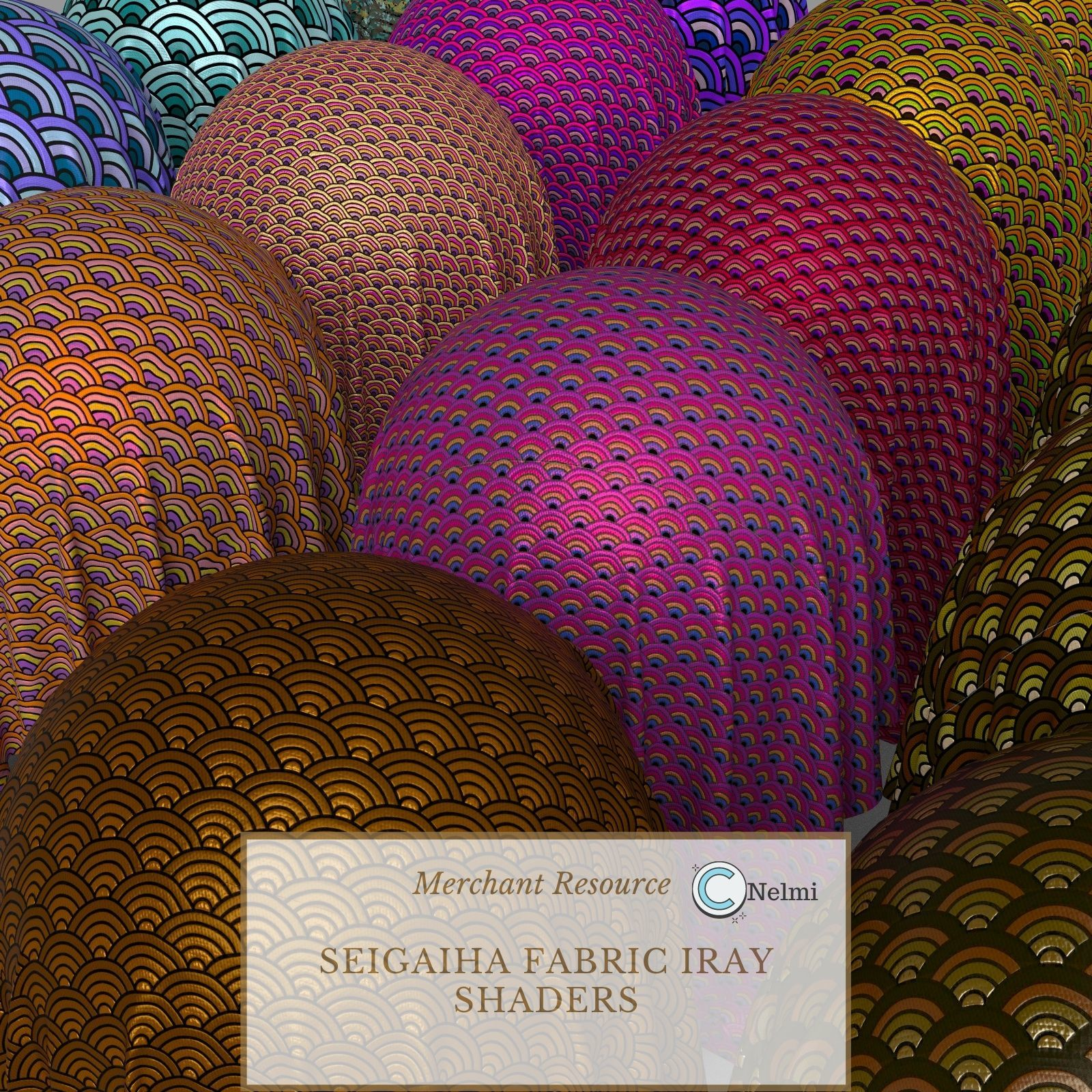 25 Seigaiha Fabric Iray Shaders - Merchant Resource