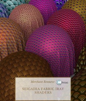 25 Seigaiha Fabric Iray Shaders - Merchant Resource 3D Figure Assets Merchant Resources nelmi