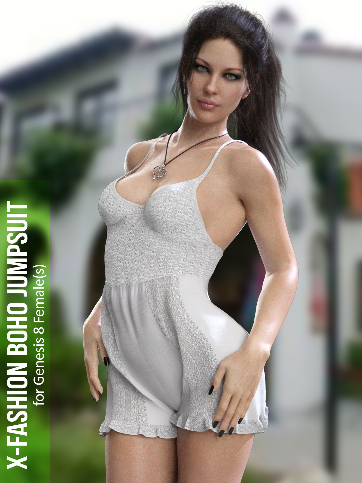 X-Fashion Boho Jumpsuit for Genesis 8 Females
