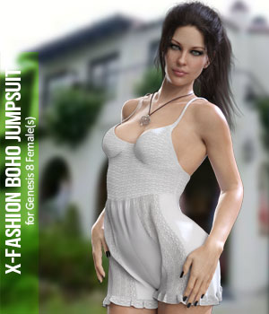 X-Fashion Boho Jumpsuit for Genesis 8 Females 3D Figure Assets xtrart-3d