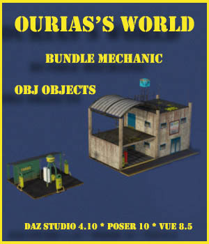 Ourias World Bundle Mechanic 3D Models Ourias3D