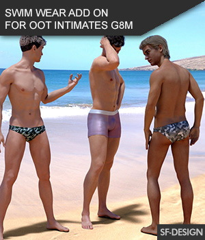 Swim Wear Add On for OOT Intimates for Genesis 8 Male 3D Figure Assets SF-Design