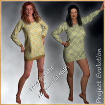Long Sweater and 10 Styles for Project Evolution - Poser image 1