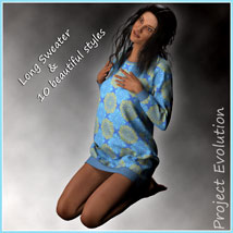 Long Sweater and 10 Styles for Project Evolution - Poser image 2
