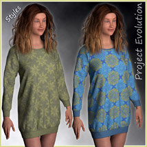Long Sweater and 10 Styles for Project Evolution - Poser image 3