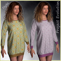 Long Sweater and 10 Styles for Project Evolution - Poser image 4