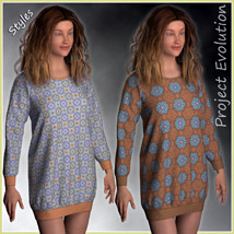 Long Sweater and 10 Styles for Project Evolution - Poser image 7
