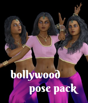 Bollywood Pose Pack for G8F 3D Figure Assets anjeli93