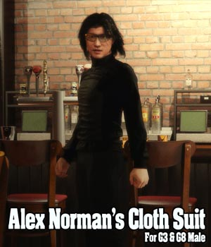 Alex Norman Cloth Suit for G3 & G8 Male 3D Figure Assets JerryJang