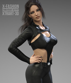X-Fashion XWarrior Outfit for Genesis 8 Females 3D Figure Assets xtrart-3d