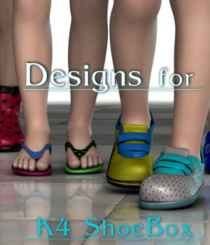 Design for K4 ShoeBox_Poser 3D Figure Assets JudibugDesigns