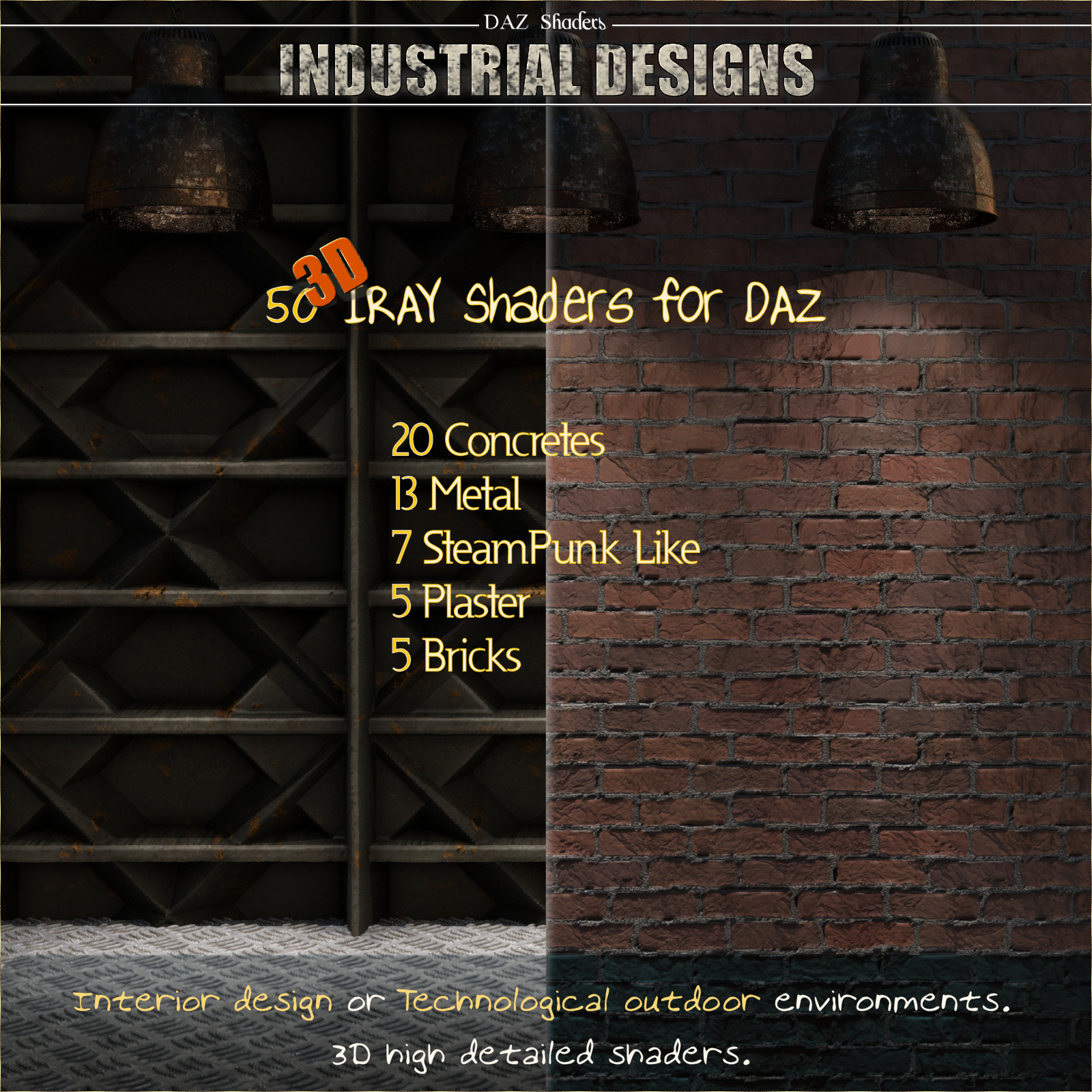 Industrial Designs - IRAY Shaders for DAZ