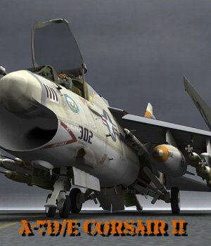 A7D/E Corsair II for Poser 3D Models VanishingPoint