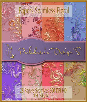Paper seamless et styles fusion 2D Graphics Merchant Resources Perledesoie