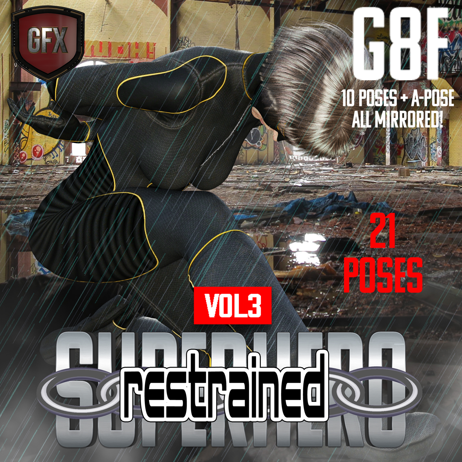 SuperHero Restrained for G8F Volume 3 by GriffinFX