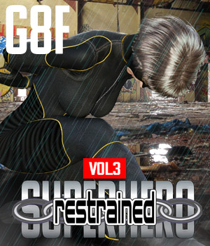 SuperHero Restrained for G8F Volume 3 3D Figure Assets GriffinFX