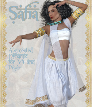 Safia Dynamic for V4 and Poser 3D Figure Assets Tipol