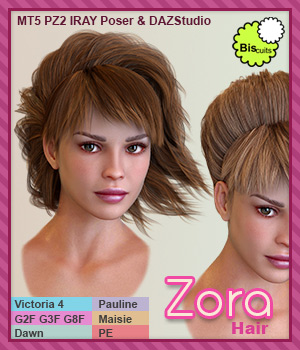 Biscuits Zora Hair 3D Figure Assets Biscuits