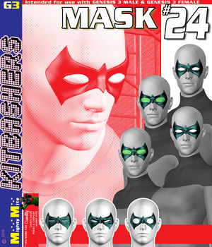 MMKBG3 Mask 024 3D Figure Assets MightyMite