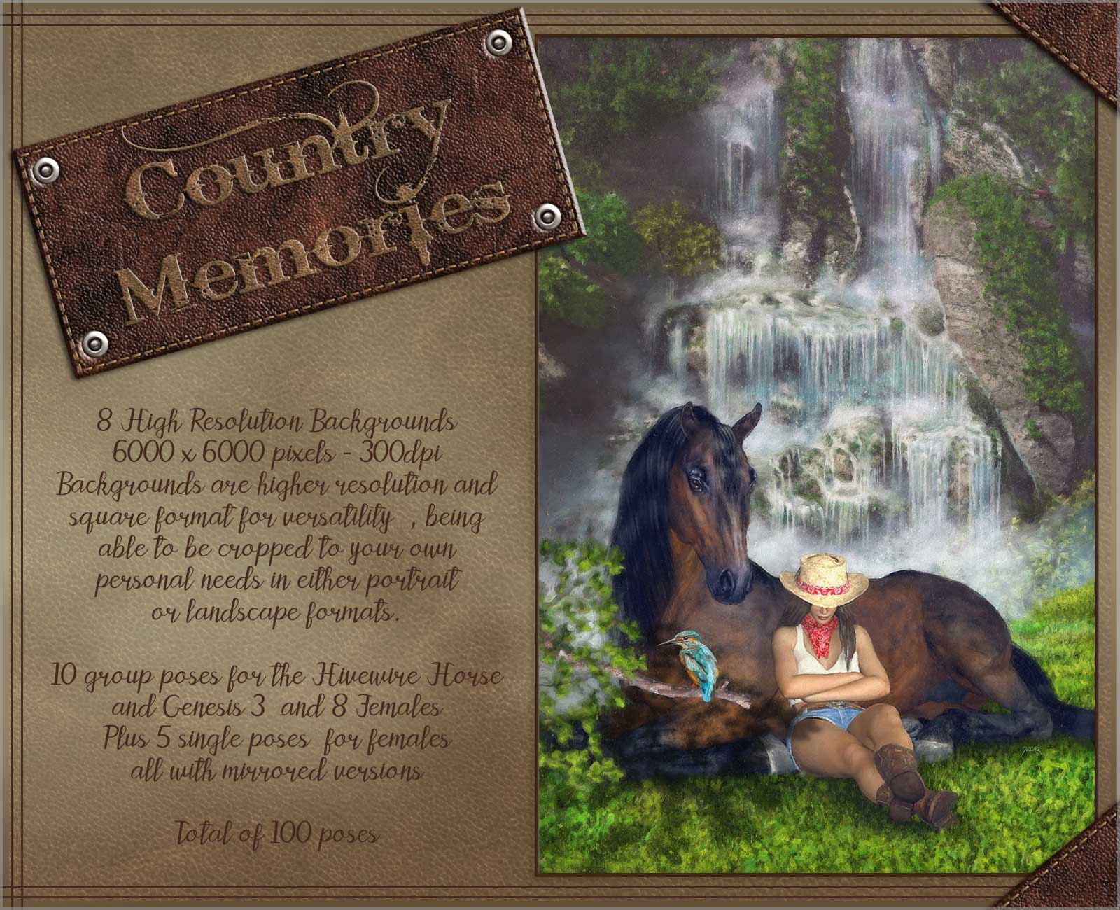 Country Memories - Backgrounds and poses for G3/8F and Hivewire Horse