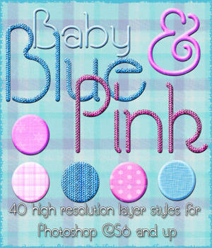 Baby Blue and Pink Styles 2D Graphics antje