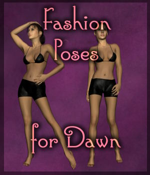 Fashion Poses for Dawn 3D Figure Assets Luna_s20