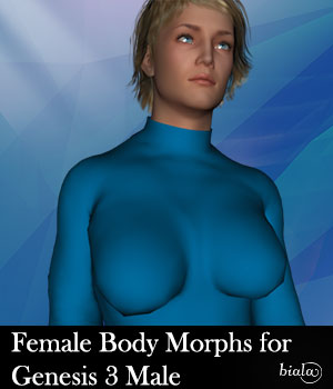 Female Body Morphs for Genesis 3 Male 3D Figure Assets biala