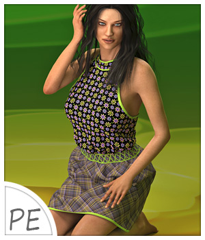 Lisa Dress and 7 Styles for Project Evolution - Poser 3D Figure Assets karanta