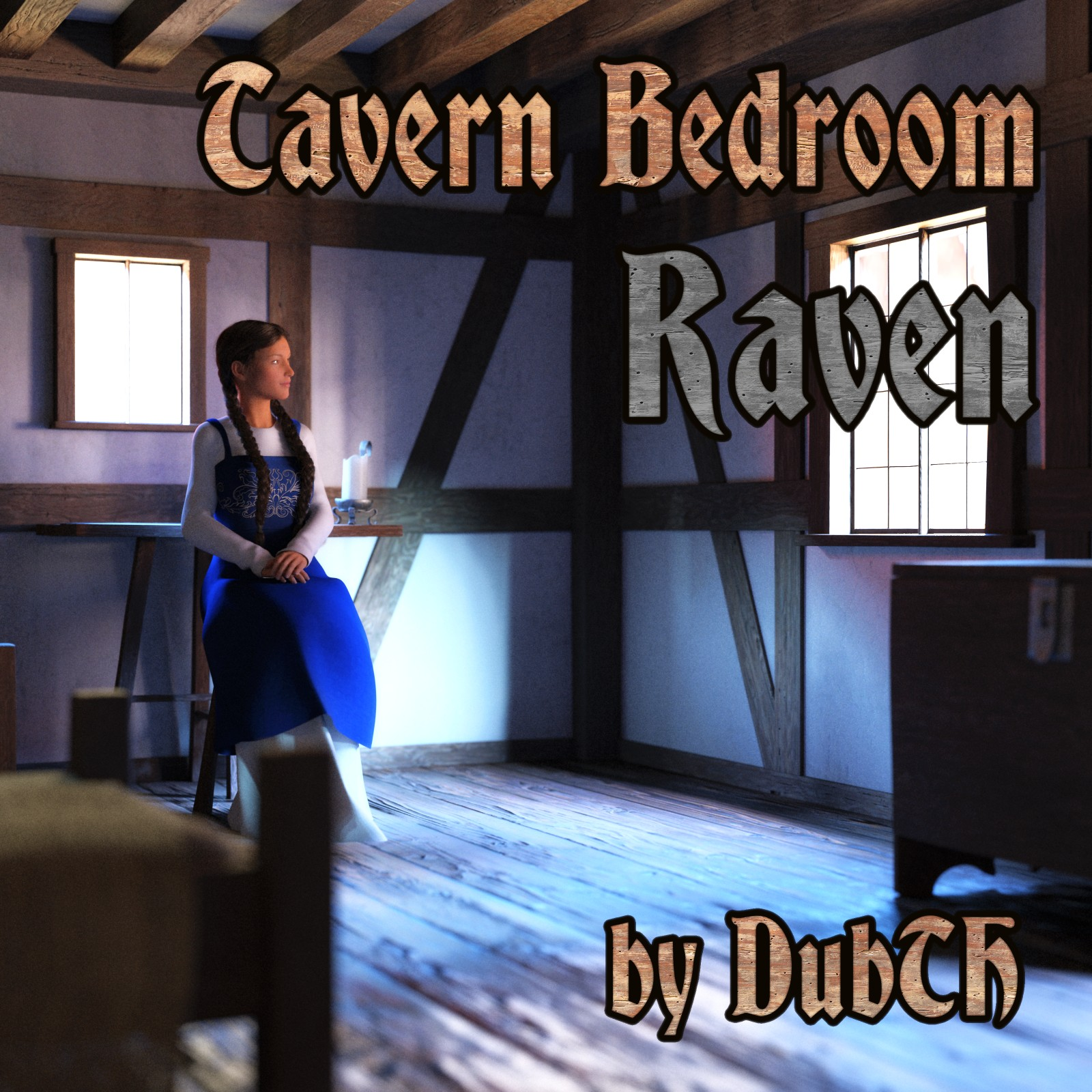 Tavern Bedroom Raven for Iray