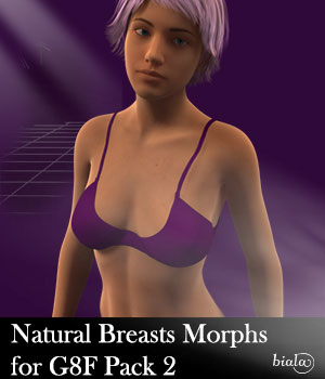 Natural Breasts Morph for Genesis 8 Female Pack 2