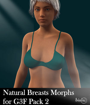 Natural Breasts Morph for Genesis 3 Female Pack 2 3D Figure Assets biala