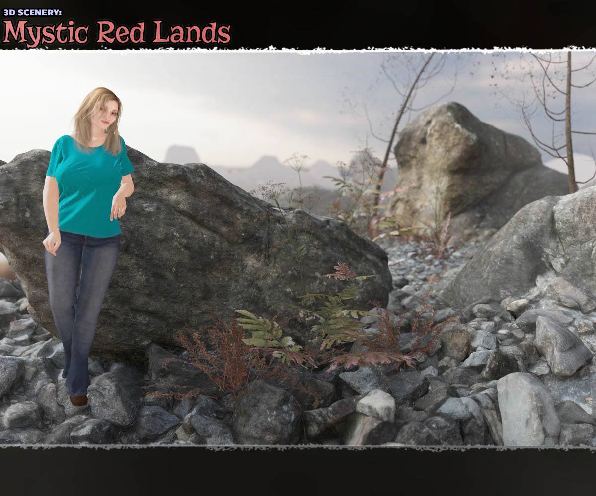 3D Scenery: Mystic Red Lands