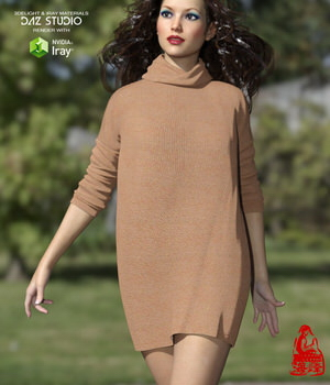 Turtleneck for Genesis 3 Females 3D Figure Assets RainbowLight