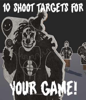 Shoot Targets Pack for Gaming - Extended Licence 3D Game Models : OBJ : FBX 3D Models Extended Licenses SnaiperoG3d