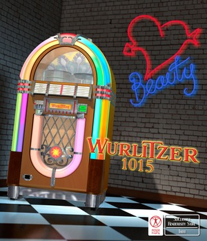 WURLITZER 1015 JUKE BOX  for Poser 3D Models 3DClassics