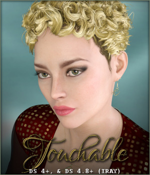 Touchable Curly Top 3D Figure Assets -Wolfie-