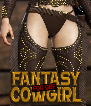 Fantasy CowGirl for G8 Females 3D Figure Assets powerage