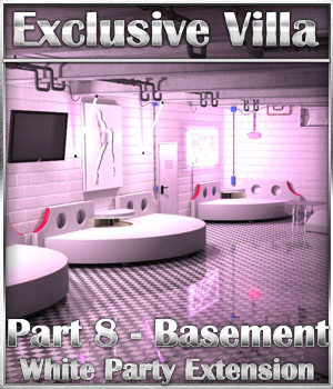 Exclusive Villa: Basement White Party Extension 3D Models 3-d-c
