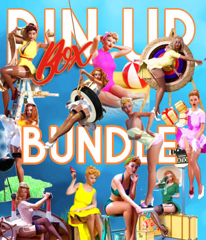 Pin Up Box BUNDLE for DS 3D Figure Assets 3D Models pamawo