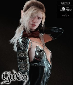 Gwen for Genesis 8 Female 3D Figure Assets brahann
