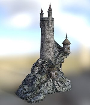 Wizard`s Tower for DAZ Studio 3D Models VanishingPoint