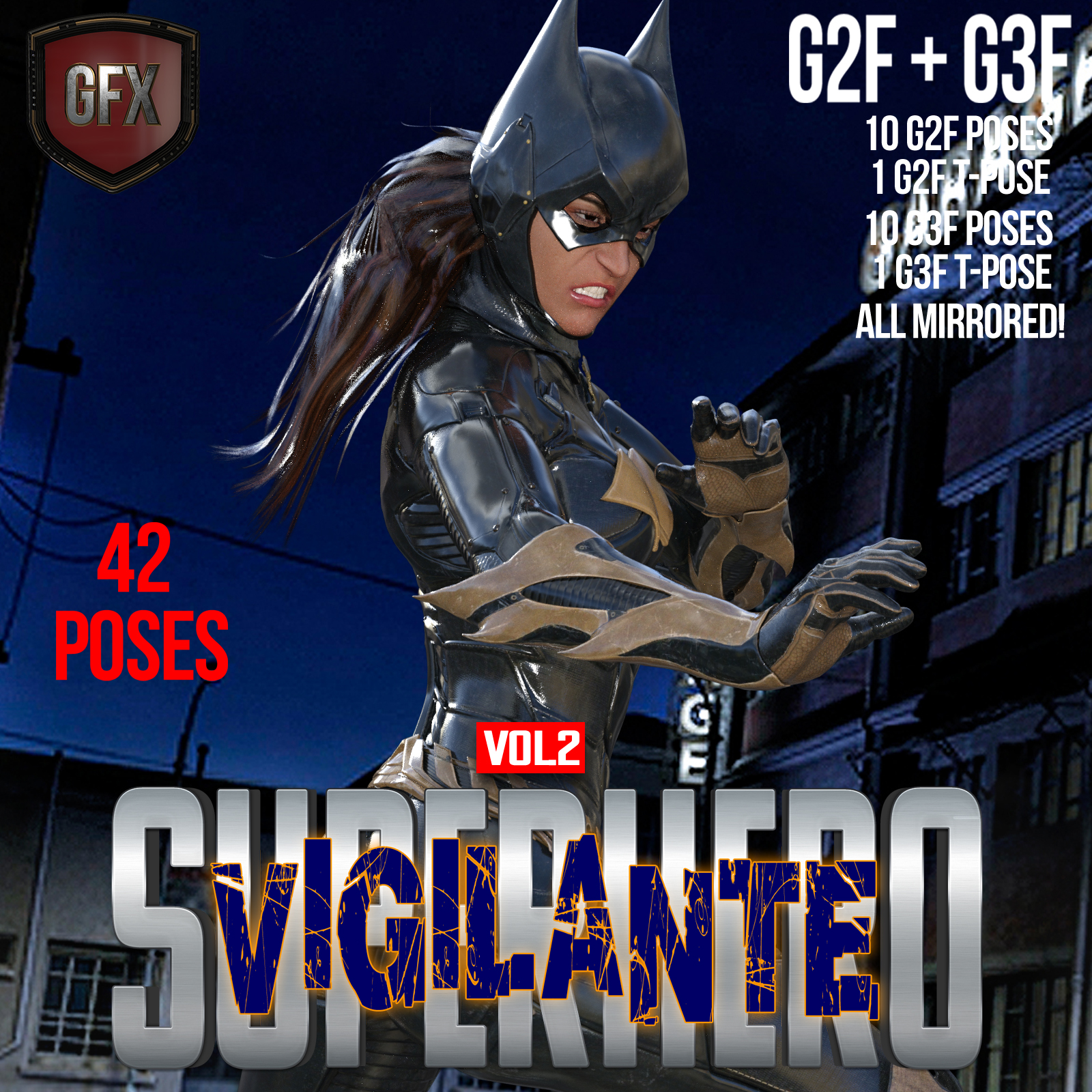 SuperHero Vigilante for G2F and G3F Volume 2