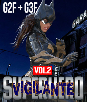 SuperHero Vigilante for G2F and G3F Volume 2 3D Figure Assets GriffinFX
